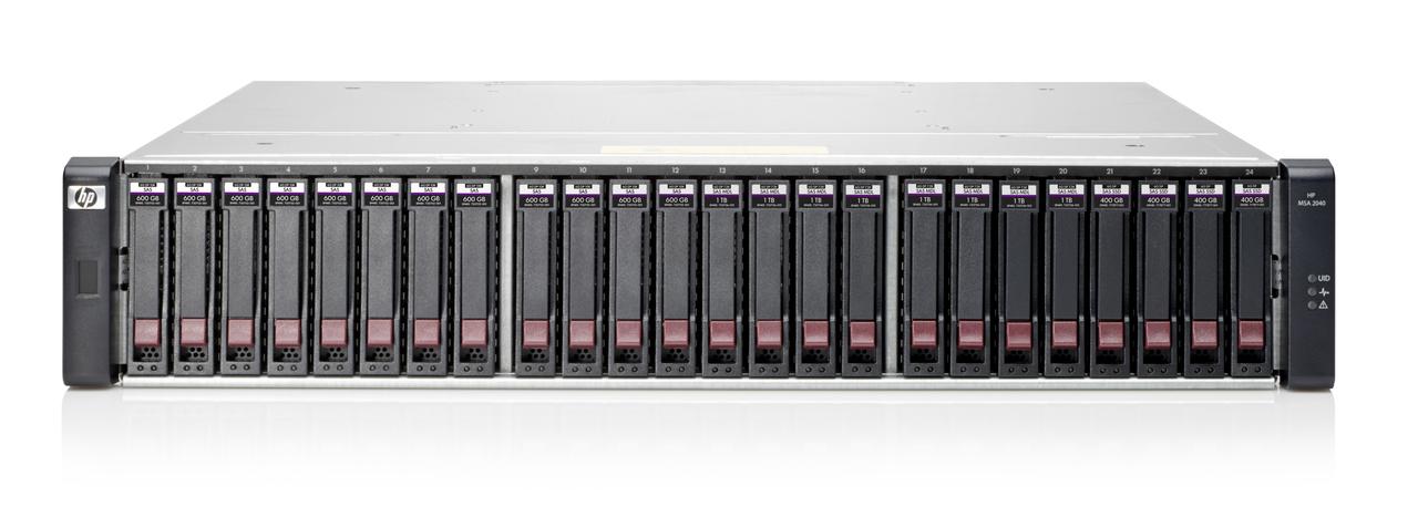 На фото представлена HPE MSA 2040.